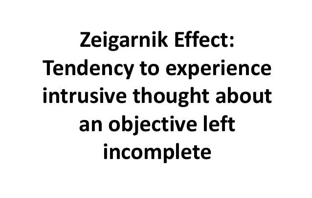 Zeigernik Effect
