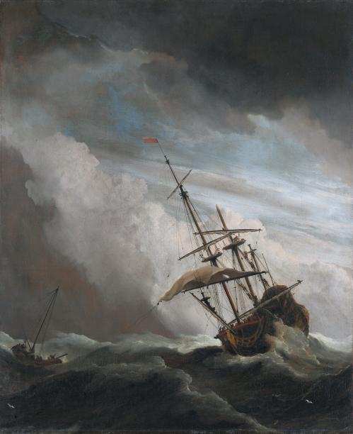 storm-tossed sea