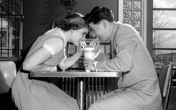 vintage couple flirting #2
