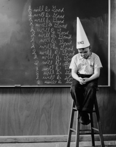 boy in dunce cap - Version 2